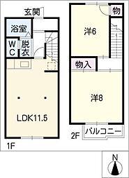 [タウンハウス] 愛知県春日井市如意申町6丁目 の賃貸【/】の間取り