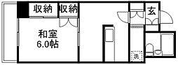 武蔵野第2パークマンション[211号室]の間取り