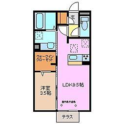 三重県鈴鹿市稲生4丁目の賃貸アパートの間取り