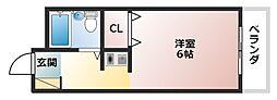 ロイヤルコート松虫[3階]の間取り