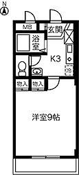 アメニティ中央[305号室]の間取り