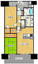 和泉府中レジデンスタワー[14階]の間取り