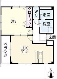 NKビル法華[3階]の間取り