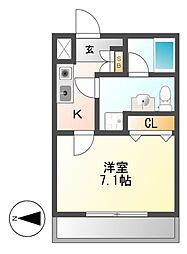 AMBER HOUSE JINGU[5階]の間取り