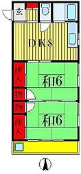 宮山コーポ[2階]の間取り