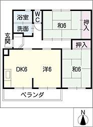 鳴海おおね住宅C棟202号[2階]の間取り