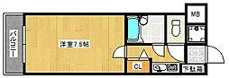 トーカンマンション久留米駅東[7階]の間取り