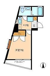 アーク松戸本町[5階]の間取り