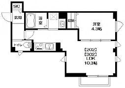 アンバーコート[3階]の間取り