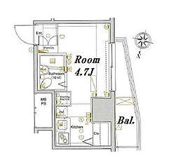 ラグジュアリーガーデン東松戸[4階]の間取り