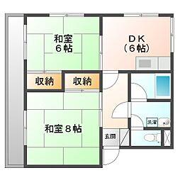 新川崎シティ−ハイツ[2階]の間取り
