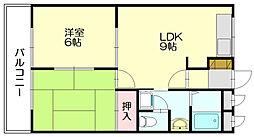ビラージュ脇田[2階]の間取り