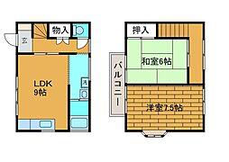 [テラスハウス] 東京都町田市森野3丁目 の賃貸【/】の間取り