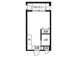 笠井ビル[4階]の間取り