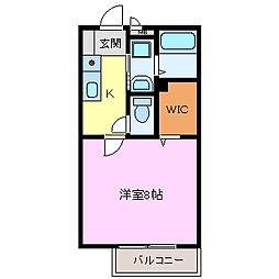 ミラーハイツIII[105号室]の間取り