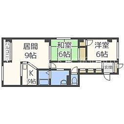 北海道札幌市東区北三十三条東7丁目の賃貸マンションの間取り