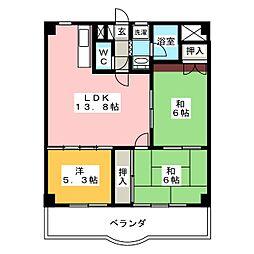 コンフォ・トゥール[4階]の間取り