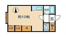 黒田ハイム[3階]の間取り