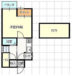 オークヒルズ六本松[5階]の間取り