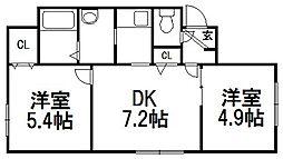 北海道札幌市中央区南四条西16丁目の賃貸マンションの間取り