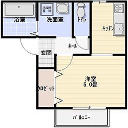 サンフェルティB棟[1階]の間取り