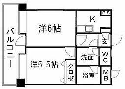 ピュアドームベイス博多[13階]の間取り