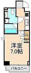 東京都台東区蔵前1丁目の賃貸マンションの間取り
