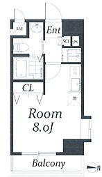 アクアタウンイーストII[2階]の間取り