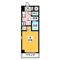 愛知県名古屋市中川区中野新町2丁目の賃貸マンションの間取り