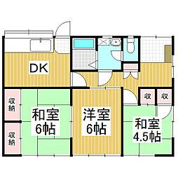 中島アパート[1階]の間取り