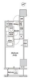JR山手線 新橋駅 徒歩5分の賃貸マンション 5階1Kの間取り