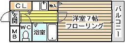 シャルム橋本III[310号室]の間取り