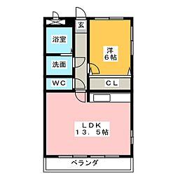 天照レジデンス[2階]の間取り