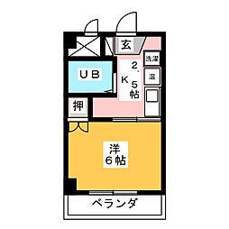 ニューハイツ伊藤[2階]の間取り