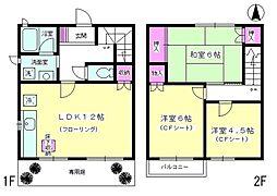 [テラスハウス] 神奈川県厚木市林5丁目 の賃貸【/】の間取り
