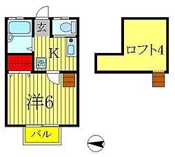 レインボーハイツ柴又[2階]の間取り