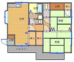 長崎県長崎市西町の賃貸アパートの間取り