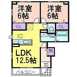 コンフォートE棟[1階]の間取り