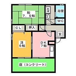 キャンサー336[1階]の間取り