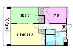 UTARA  HOUSE[102 号室号室]の間取り