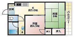 ハイツ高井[4階]の間取り