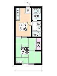 タキシマハイツB棟[105号室]の間取り
