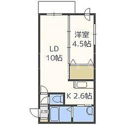 北海道札幌市白石区菊水三条4丁目の賃貸マンションの間取り