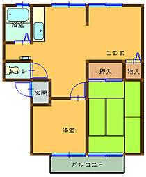 アーバンライフ吉田 B[1階]の間取り