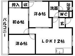 坂本マンション[E-3号室]の間取り