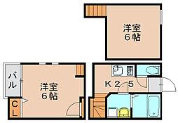 福岡県福岡市博多区吉塚7丁目の賃貸アパートの間取り