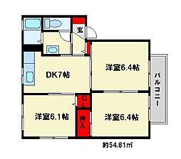 フォレスト20[2階]の間取り