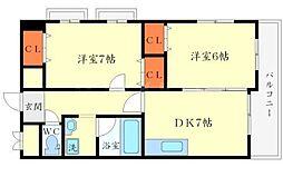 イーズコート桃山台[3階]の間取り