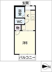 ドミトリーKITAA棟[2階]の間取り