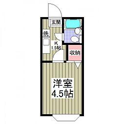 ジョイフル松戸[209号室号室]の間取り